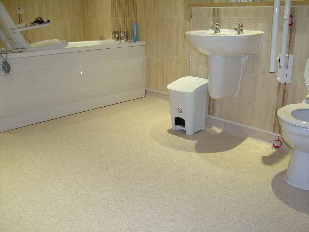 Non-slip flooring for Care Homes